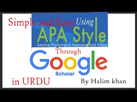 how to apply apa style/format through google scholar on references in urdu/hindi