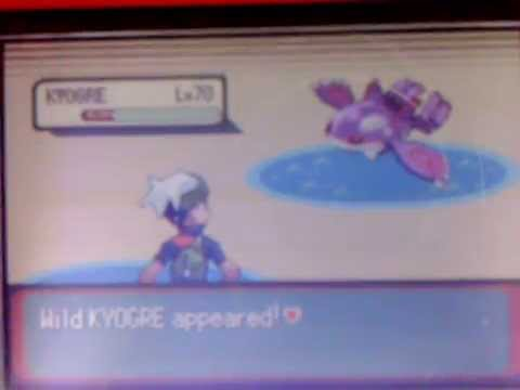 Shiny Kyogre on Emerald after only around 500 RAs!