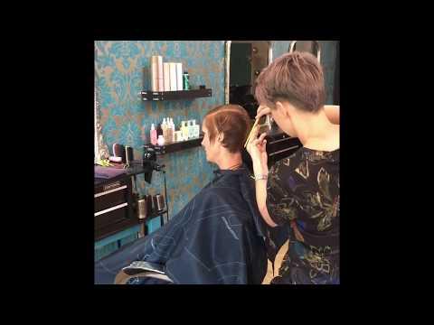 Short asymmetrical haircut tutorial