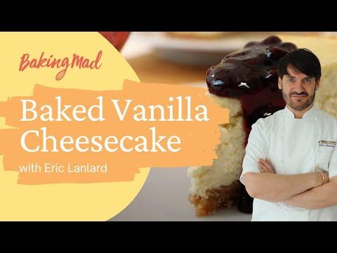 Eric Lanlard's baked vanilla cheesecake