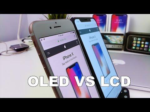 iPhone X OLED vs iPhone 8 LCD - Blue Shift, Screen Burn In