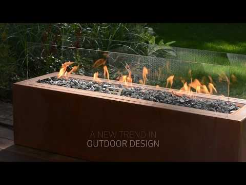 GALIO REMOTE – automatic gas fireplace for your outdoor living space