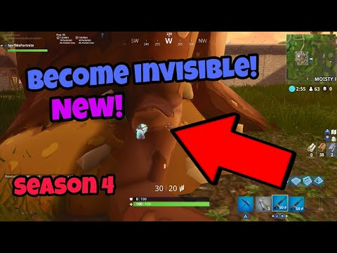 Fortnite Battle Royale Glitch (New) Become invisible in season 4 PS4/Xbox one 2018