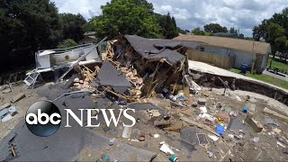 Massive sinkhole swallows two homes in Florida