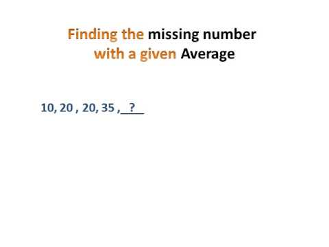 Average and Missing Number