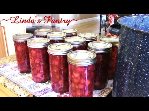 ~Canning Cherry Pie Filling With Linda's Pantry~