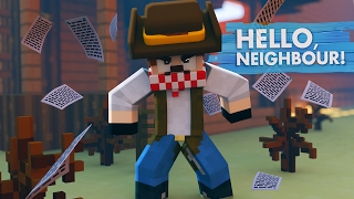 Minecraft Baby Hello Neighbour - THE NEIGHBOUR WANTS A DUEL!