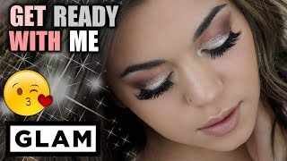 GET READY WITH ME/CHIT CHAT: GLAM WEEKEND LOOK!