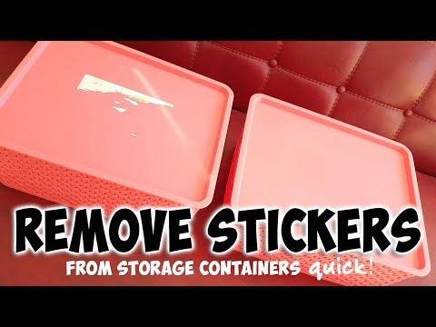 How to get stickers off plastic containers