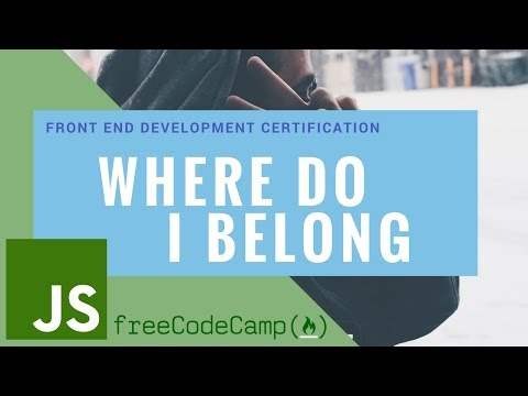 Free Code Camp: Where do I belong