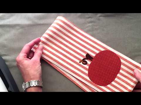 Decorative Fabric Applique Towel with Cricut Maker & Easy Press