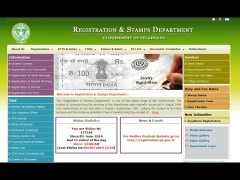 Property Registration process in Andhra & Telangana ( 2 States )