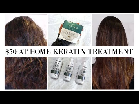 HOW TO: $50 AT HOME KERATIN TREATMENT || Nutree Professional