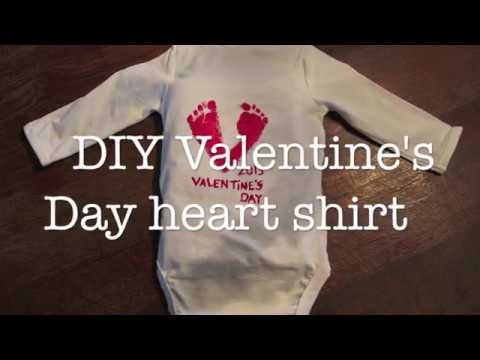 DIY Valentin's DAY baby footprint