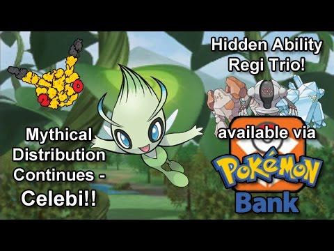 Celebi Arrives For #Pokemon20! + Hidden Ability Regi Bros. in Pokémon Bank!