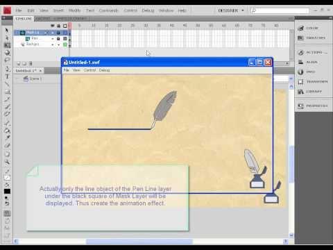 Flash masking tutorial - draw line animation effect