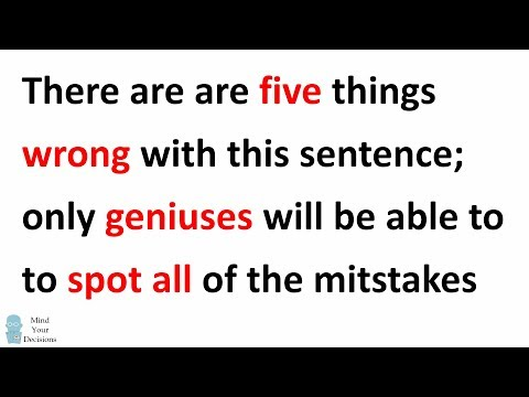 Only Geniuses Can Find All Of The Mistakes In This IQ Test