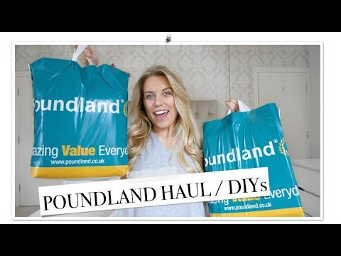 HUGE POUNDLAND HAUL APRIL / MAY 2018 | DIY & HOME DECOR IDEAS | Freya Farrington