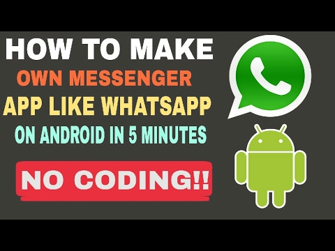 [Hindi] How to make own messenger app like whatsapp in 5 minutes on android ||Technical Nikhil ||