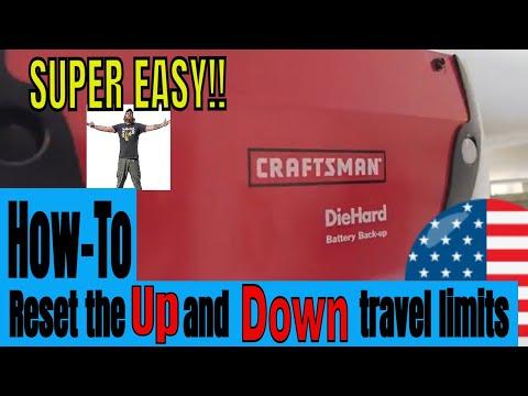 Craftsman Garage Door Opener Travel Settings | EASY How-To Video
