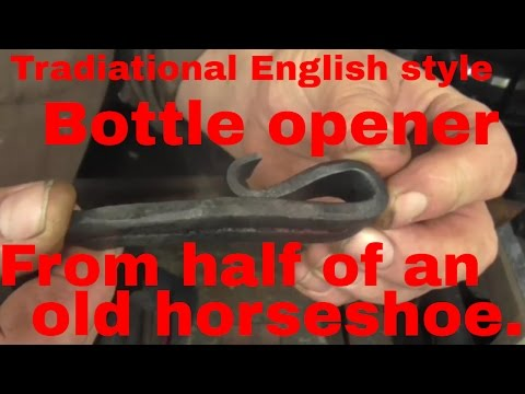 Traditional English style bottle opener from half an old horseshoe V2