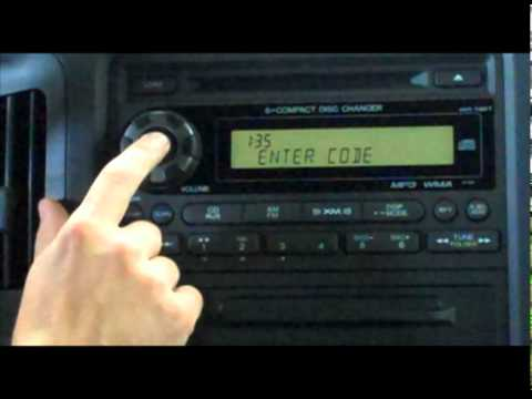 Anti-Theft Radio Code