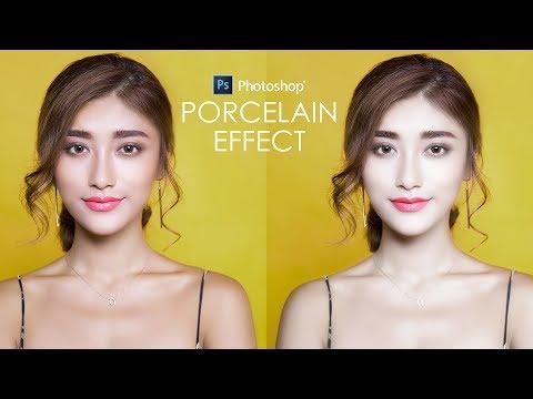 Porcelain Doll Skin Effect in Photoshop - Change skin Tone Tutorial + Action