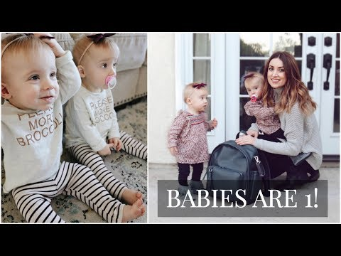 Twin Girls One Year Update: June + Violet (Updated with clips at the end!) | Kendra Atkins