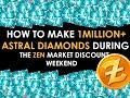 NEVERWINTER HOW TO MAKE 1 MILLION+ ASTRAL DIAMONDS DURING THE ZEN DISCOUNT EVENT