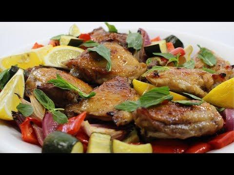 Chicken with Piri Piri Lime Marinade & Mediterranean Veg Recipe - Woolworths