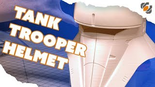 Printing the Rogue One Tank Trooper Helmet on a Cheap 3D Printer