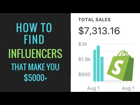 HOW TO FIND INSTAGRAM INFLUENCERS THAT MAKE YOU OVER $5000 | SHOPIFY