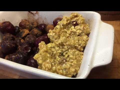 Cherry oat mock crumble