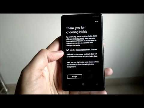 Nokia Lumia 820 - First Start Experience