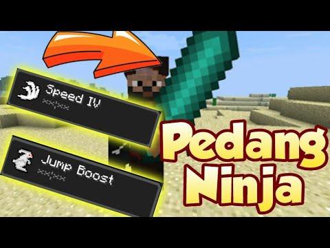Cara membuat pedang Ninja di Minecraft PE - Minecraft Tutorial