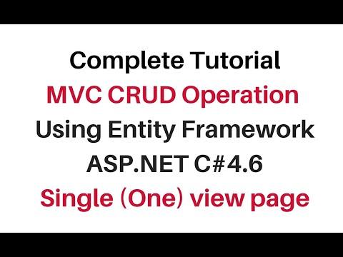 mvc crud operation using entity framework c#4.6 single one view page