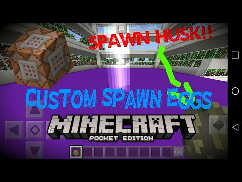 How to make custom Spawn Eggs Minecraft Pocket Edition | Command Blocks