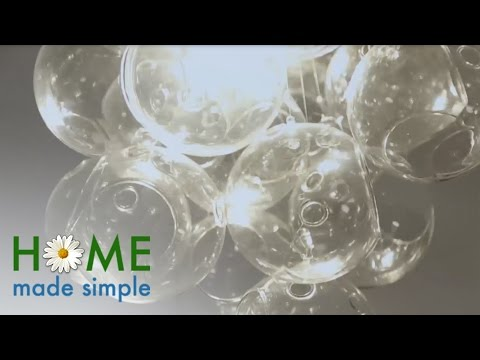 How To Make This Bubble Chandelier with Glass Orbs | Home Made Simple | Oprah Winfrey Show
