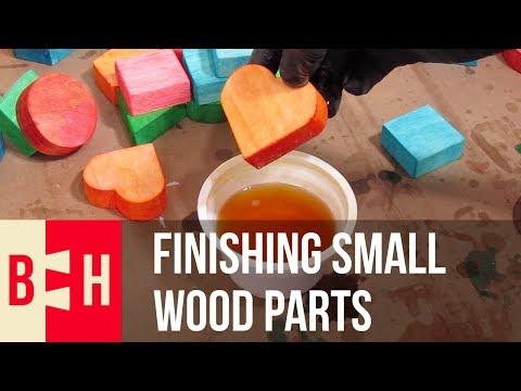 Finishing Small Wood Parts