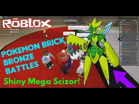 Roblox: Pokemon Brick Bronze: SHINY MEGA SCIZOR BATTLES!