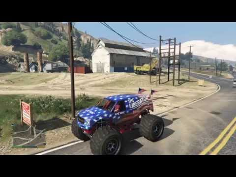location of the Liberator monster truck in GTA 5 for  ps4 (IN STORY MODE)