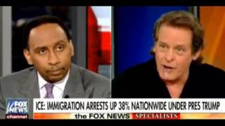stephen a smith, ted nugent agree left doesnt know difference between legal, illegal immigration