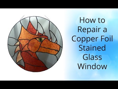 How To Repair a Copper Foil Stained Glass Panel - Stained Glass Tutorial