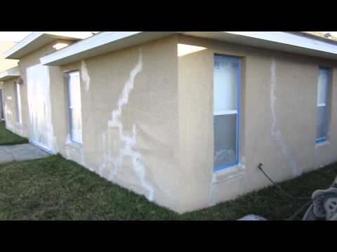 How to repair settling cracks in stucco
