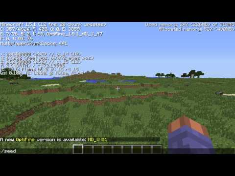 Amazing grasslands, flat land, npc Village Minecraft 1.6.2 seed