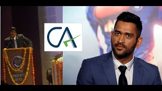 When MS Dhoni met ICAI President?!