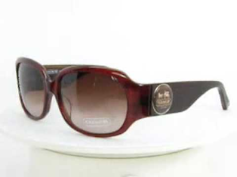 Coach Sunglasses Chantal Burgundy Horn S736A