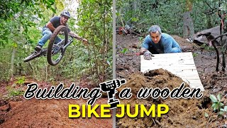 Building a fun bike jump out of wood