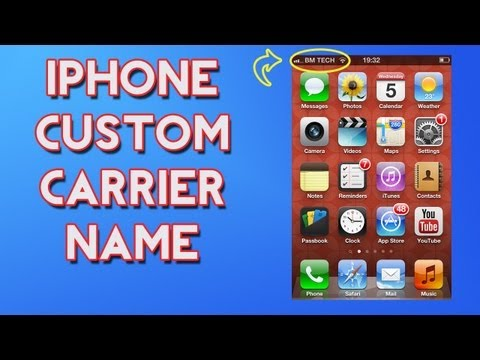 How To Change Your iPhone Carrier Name