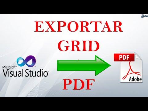 Como exportar de Datagridview a PDF en visual basic 2010